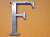 Aluminum Letter F 2 inches Long 1/8 thick Foundry Pattern
