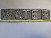 Aluminum Pattern Utility sign block letters WATER