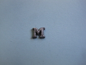 Foundry Pattern Cast Aluminum Letter M 1/4 x 1/16 thick