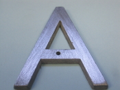 Foundry Pattern Letter A Aluminum 2 1/4 l sign decor monogram