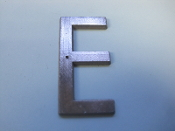 Foundry Pattern Letter E Aluminum 2 1/4 l sign decor monogram