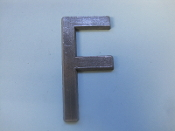Foundry Pattern Letter F Aluminum 2 1/4 l sign decor monogram