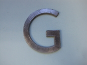 Foundry Pattern Letter G Aluminum 2 1/4 l sign decor monogram