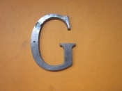 Aluminum Letter G 2 inches