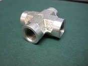 Steel Fitting 90 Degree Union Cross NPT Female 6000 PSI