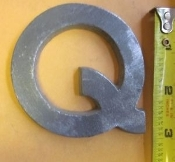 Foundry Pattern Letter Q aluminum 3 inch Long 1/4 thick