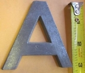Foundry Pattern Letter A aluminum 3 inch Long 1/4 thick