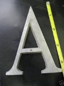 Foundry pattern letter A aluminum 4 1/4 inch 1/4 thick