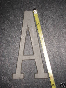 Foundry pattern letter A aluminum 4 1/2 inch 1/8 thick