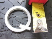 Metal Art Sign Letter Q cast Aluminum 1 3/8 in L 1/8 TH Arial