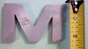 Foundry Pattern Letter M Aluminum 2 1/4 length x 1/4 width