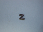 Foundry Pattern Cast Aluminum Letter Z 1/4 x 1/16 thick