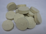 Hard density jewelry wool buffing felt wheel lot of 5