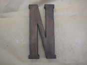 Hardwood Foundry Pattern Vintage Monogram Letter N 9 1/8 inches
