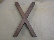 Hardwood Foundry Pattern Vintage Monogram Letter X 8 1/8 inches