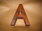 Hardwood Foundry Pattern Vintage Letter A 6 inches long