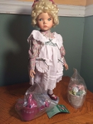 Mary Mary Quite Contrary Porcelain Doll