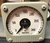 DC Ammeter Gauge 0-300 General Electric