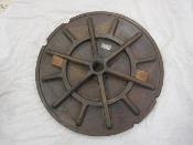 Nautical Wheel Wood Pattern 28 inches