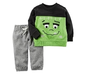 Carters Baby Two Piece Frankenstein Top and Bottom Set