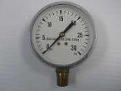 30 PSI Pressure Gauge Bottom Mount 2364