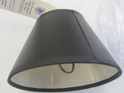 "New Brunswick style 402 lampshade 6""X3""X4"" clipon new old stock. free shipping"
