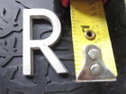 metal art sign Letter R cast Aluminum 1 3/8 in L 1/8 TH Arial